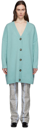 Acne Studios Blue Wool Oversized Cardigan