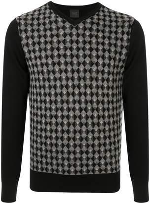 Durban D'urban geometric pattern V-neck pullover