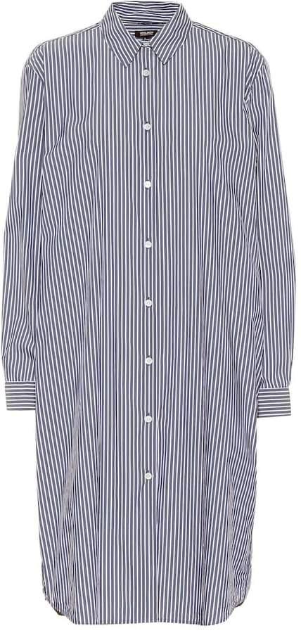 Woolrich Striped cotton-blend shirt dress
