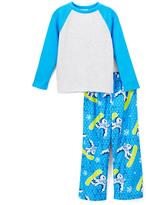 Komar Kids Blue & White Yeti Pajama Set - Boys