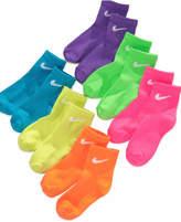Nike 6-Pack Quarter Low-Cut Socks, Little Girls (4-6X) & Big Girls (7-16)