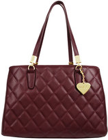Marc B Melrose Quilted Burgundy Handbag