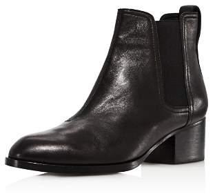 Rag & Bone Women's Walker Pointed Toe Leather Mid-Heel Booties