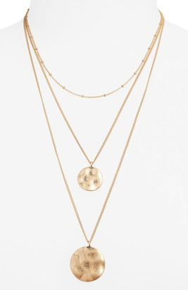 BP Layered Double Disc Necklace
