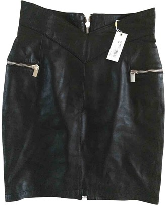 Supertrash Black Leather Skirt for Women