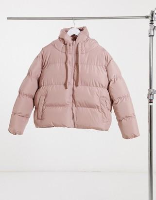 Threadbare hooded puffer jacket