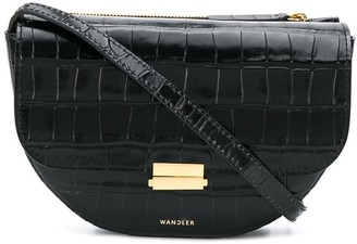 Wandler Anna croc-effect crossbody bag