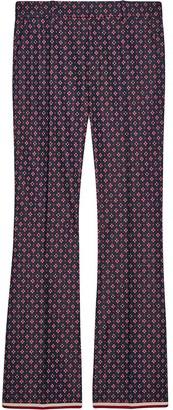 Gucci Geometric G print bootcut trousers