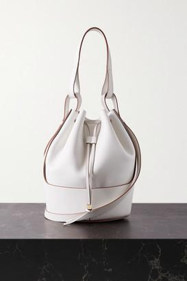 Loewe Balloon Medium Leather Bucket Bag - Off-white