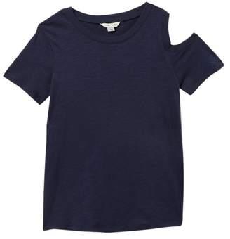 Habitual Kids Cold Shoulder Twist Back T-Shirt (Big Girls)