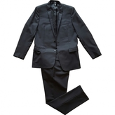 Christian Dior Black Wool Suit