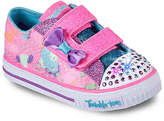 Skechers Girls Twinkle Toes Little Lovely Toddler Light-Up Sneaker -Light Pink
