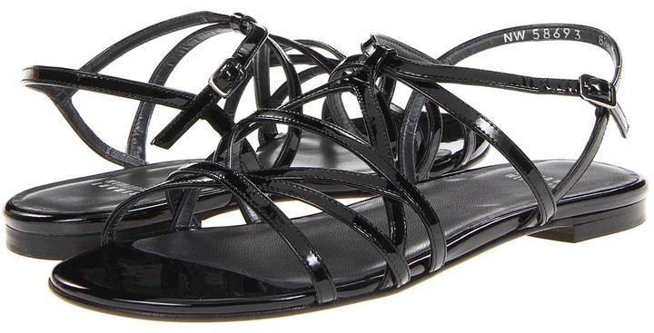 Stuart Weitzman Transito (Black Patent) - Footwear
