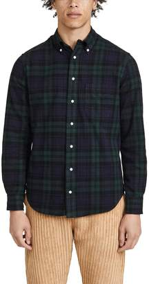 Gitman Brothers Shaggy Brushed Blackwatch Oxford Button Down Shirt