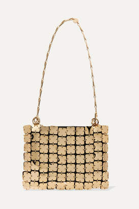 Paco Rabanne Square 1969 Chainmail And Leather Shoulder Bag - Gold
