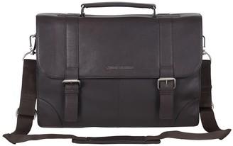 Ben Sherman Premium Karino Leather Double Compartment Laptop Case