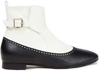 Magda Butrym Canada Two-tone Perforated Leather Ankle Boots