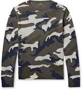 Valentino Camouflage-Intarsia Cashmere-Blend Sweater