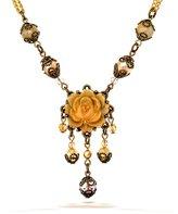 Fleurs Jolies Vintage Inspired Necklace in Tones - 32739