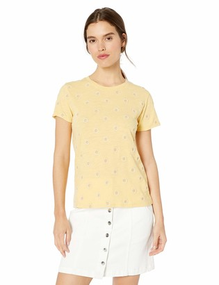 Lucky Brand Women's Daisy All Over Embroidered TEE