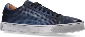 Santoni Leather Gloria Perf Sneakers