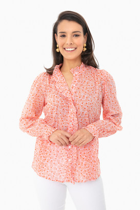 Banjanan Scattered Daisy Orchid Pink Chrissie Shirt