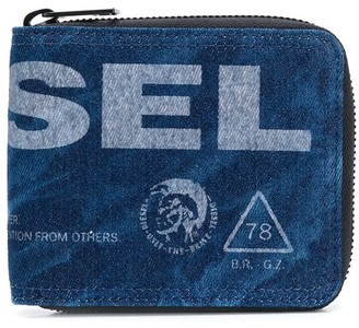 Diesel Logo Embroidered Wallet