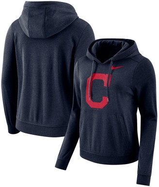 Nike Women's Navy Cleveland Indians Club Tri-Blend Pullover Hoodie