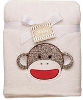 Baby Starters Boy Girl Sock Monkey Security Blanket Shower Gift 30x40 Lovey by