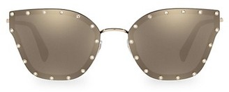 Valentino 59MM Studded Butterfly Sunglasses