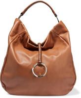 Halston Hobo textured-leather shoulder bag