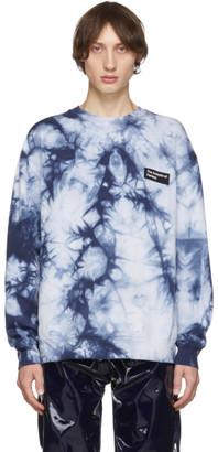 Acne Studios Navy Tie-Dye Anatomy Patch Sweatshirt