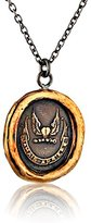 Pyrrha Bronze Never Look Back Talisman Necklace, 18""