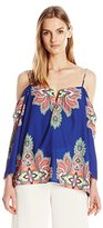 Nicole Miller Women's Bali Stretch Crepe De Chine Schuler Top