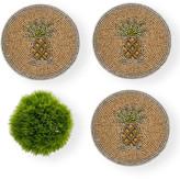 Joanna Buchanan Pineapple Coasters, Set of 4