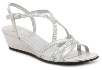 New York Transit Text Lite Wedge Sandal