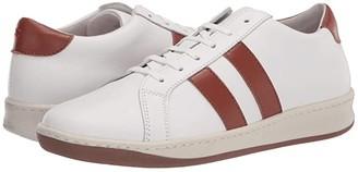Eleventy Two Stripe Leather Sneaker (White) Men's Shoes