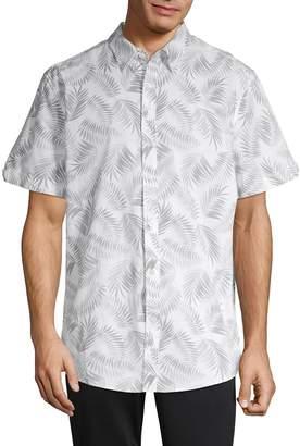 Ben Sherman Leaf-Print Button-Down Shirt
