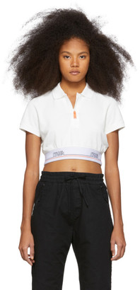 Heron Preston Off-White Cropped Tape Polo