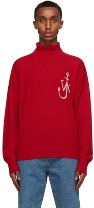J.W.Anderson Red Wool Anchor Turtleneck