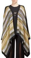 Balmain Striped Metallic Poncho