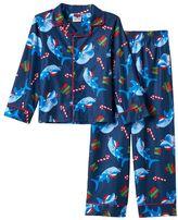 Boys 4-10 Up-Late 2-piece Shark Holiday Pajama Set