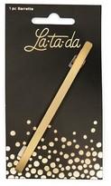La-ta-da Brushed Gold Bar Barrette 1 Count