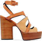 Pierre Hardy Fletwood two-tone leather platform sandals