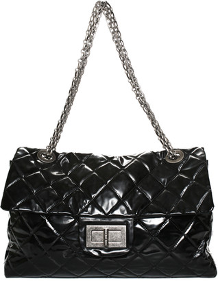 Chanel Black Quilted Patent Leather Reissue Extra Large Flap Bag