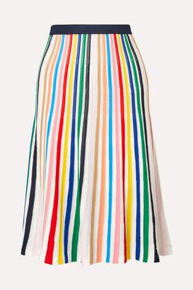 J.Crew Striped Stretch-knit Skirt - Pink