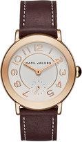 Marc Jacobs Women's Riley Dark Cherry Leather Strap Watch 36mm MJ8676