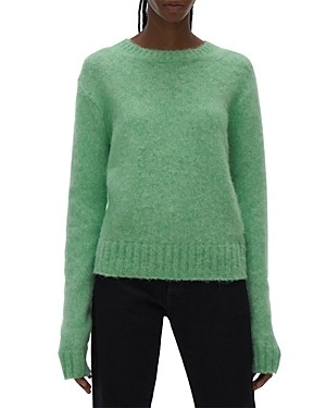 Helmut Lang Brushed Crewneck Cut Out Sweater