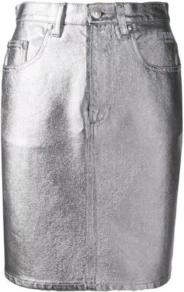 MSGM Metallic High-Waisted Skirt