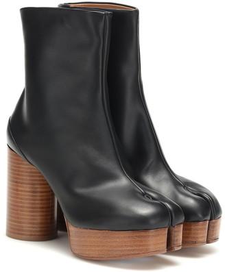 Maison Margiela Tabi leather platform ankle boots